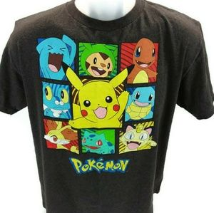 Pokemon Characters Boy's XL Short Sleeve T-shirt